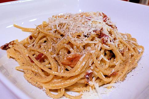 Recept – Špagety se slaninou a olivovým olejem – Spaghetti